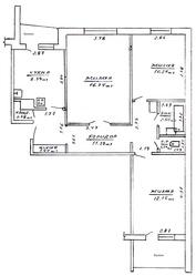 3-х комнатная,  приватизированная